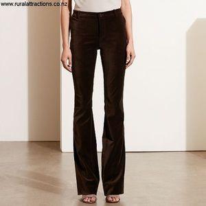 Ralph Lauren Black Label Brown Velvet Pants